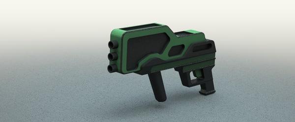 concept conceptual gun 3d model