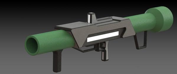 concept conceptual gun 3d max
