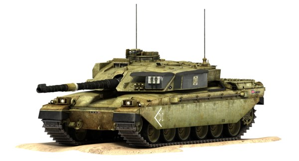 3d model of challenger battle tank 2