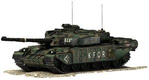 challenger battle tank 3d model