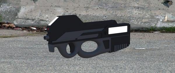 3d concept conceptual gun model
