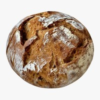 3d model brown bread 2