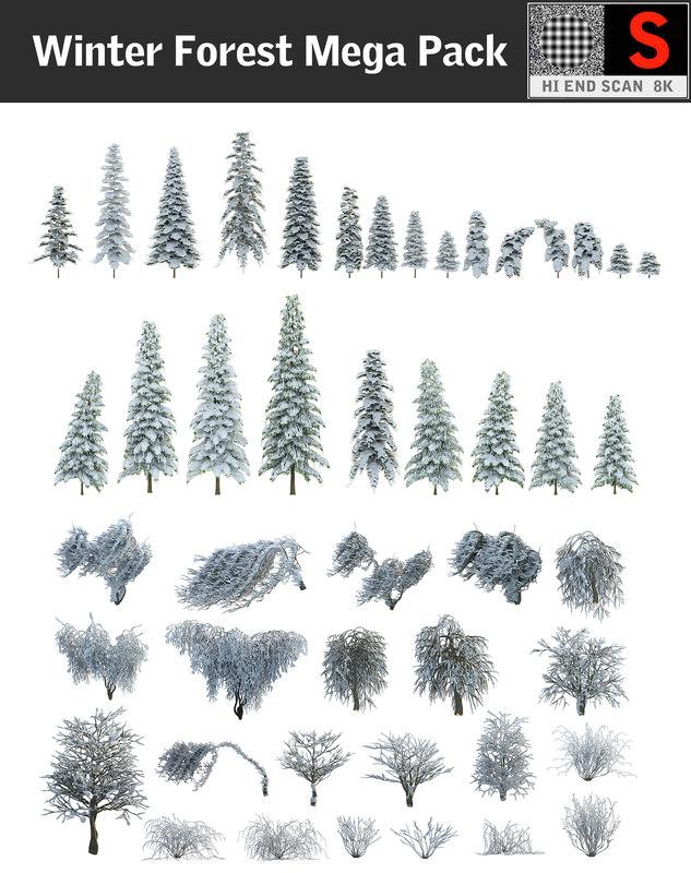winter forest mega pack max