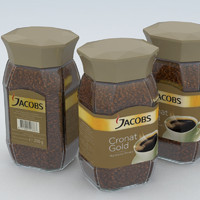 3d coffe instant jacobs cronat model