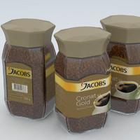 3d coffe instant jacobs cronat model