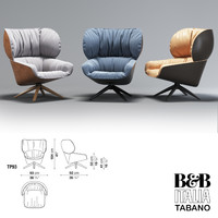 3d lounge chair tabano b italia