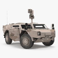 fennek kmw 4x4 armoured 3d model