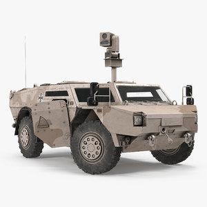 fennek kmw 4x4 armoured 3d model