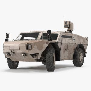 3d model fennek kmw 4x4 armoured