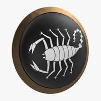 3d model greek scorpion shield