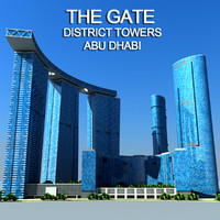 3d model gate district towers