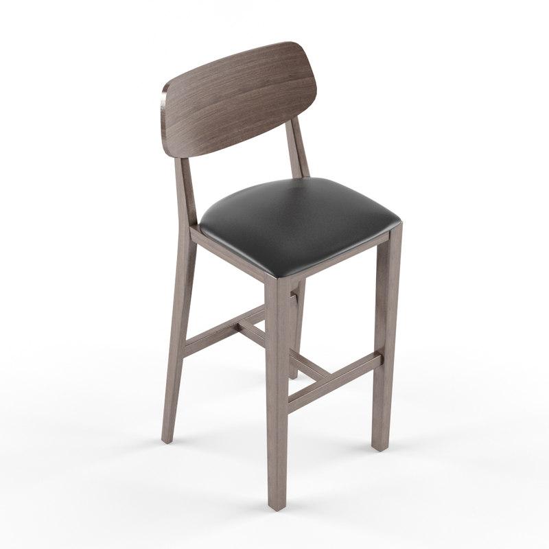 3ds bar chair