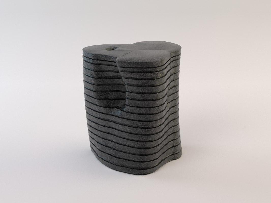 garis stool fume 3d max
