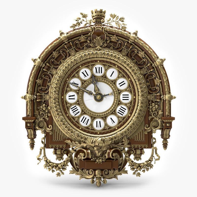 clock 3d models for download turbosquid