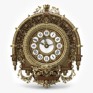 clock orsay 3d max