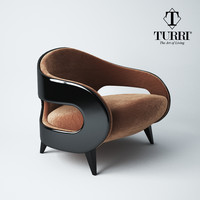 armchair turri miller 3d model