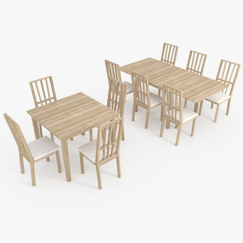 free max mode wooden table chair