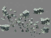 3d rocks pile
