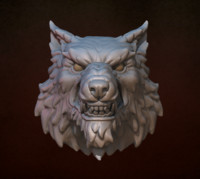 Wolf head (ready to 3D print)