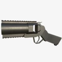 3d handheld grenade launcher model