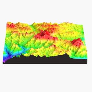 landscape mount everest 3d model