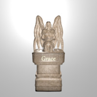 statue grace angel 3d fbx