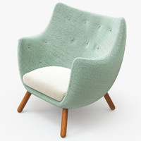 finn poet armchair 3d model