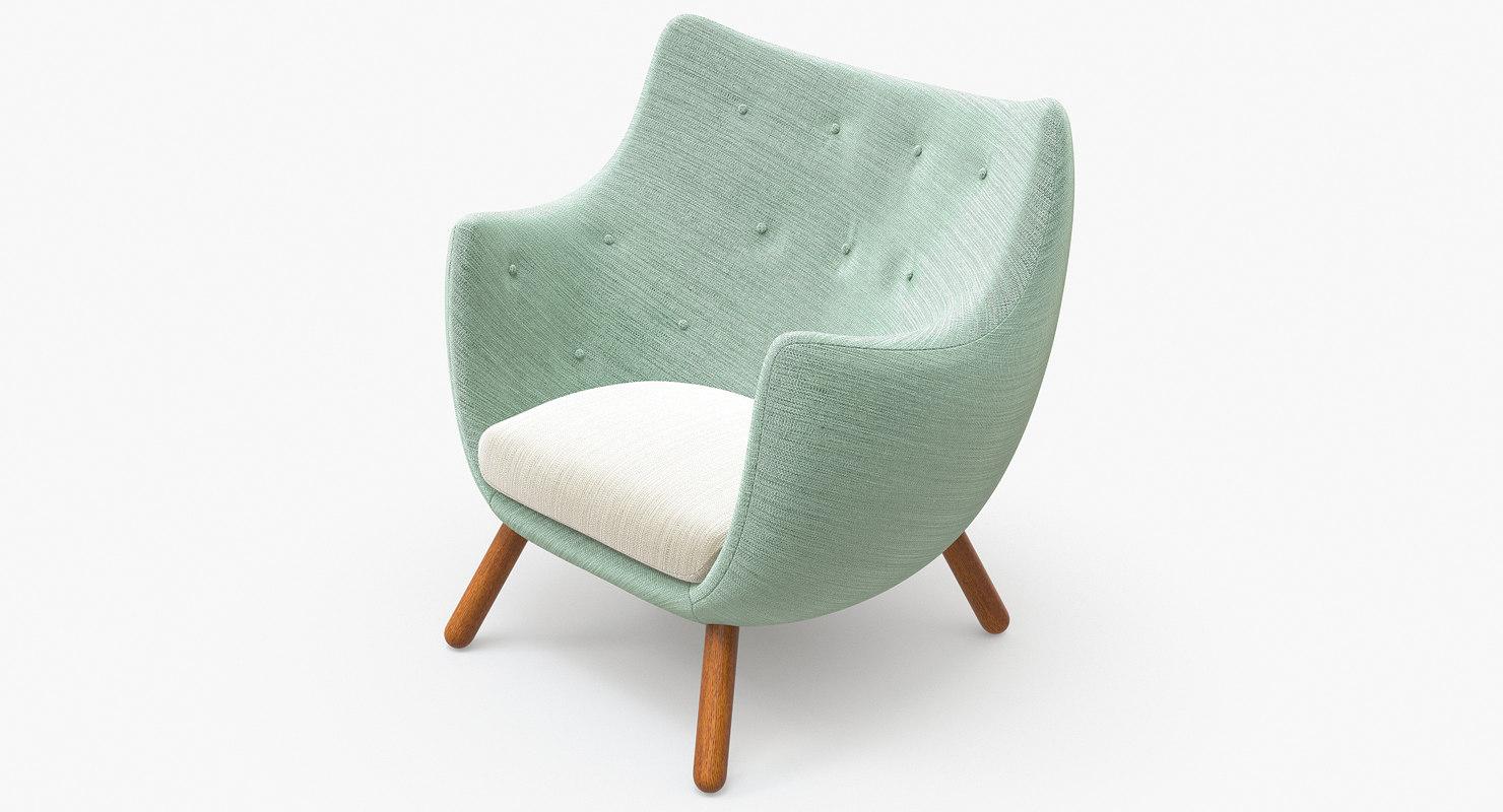 finn poet armchair 3d model