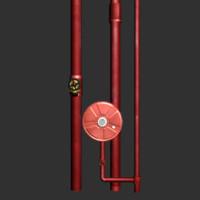 hose reel riser 3d model