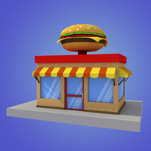 stylized burger house max
