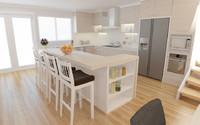3d model interior living