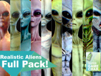 3d realistic aliens pack model