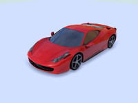 458 Low poly