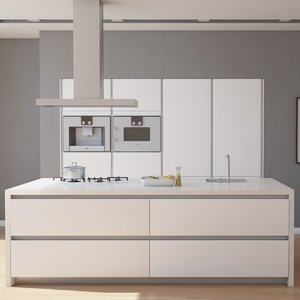 kitchen interior 3d dxf