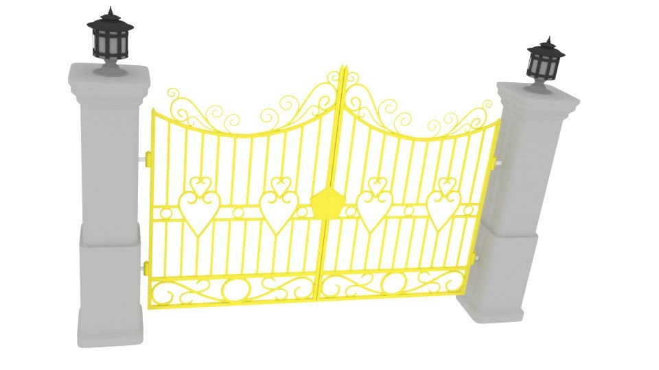 blender royal gate 3d blend