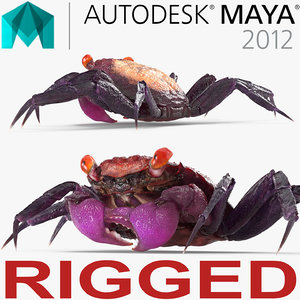 vampire crab geosesarma rigged 3d ma