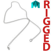 white gold chain rigged 3d ma
