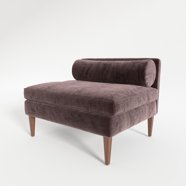 Velvet Armless Chair