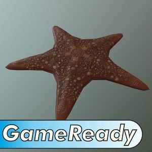 starfish pbr ue4 3d model