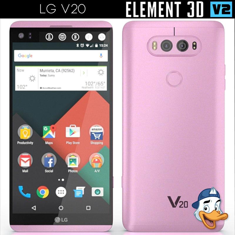 3d lg v20 element model