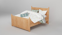 ikea hurdal bed 3d model