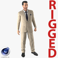 mediterranean businessman rigged 2 3d model