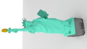 3d liberty statue model