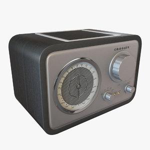 3d crosley radio