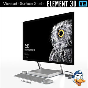 microsoft surface studio element 3d model