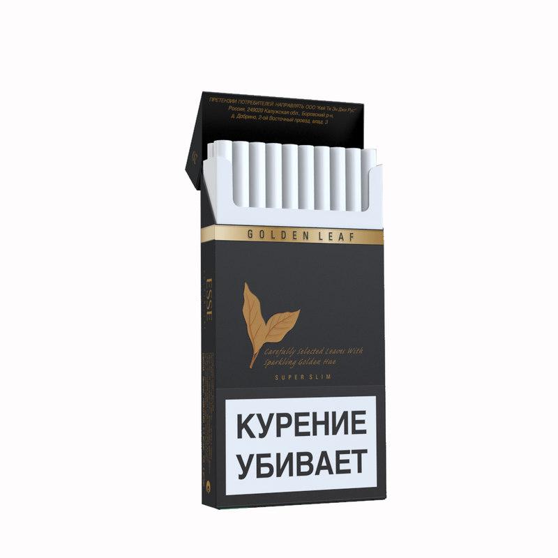 opened cigarettes esse golden 3d model