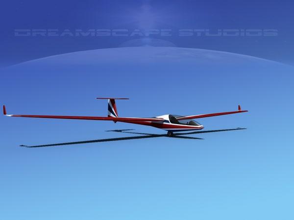 cockpit dg-300 glider 3d model