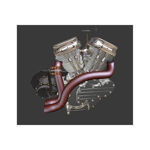 engine motorcycle 3d blend