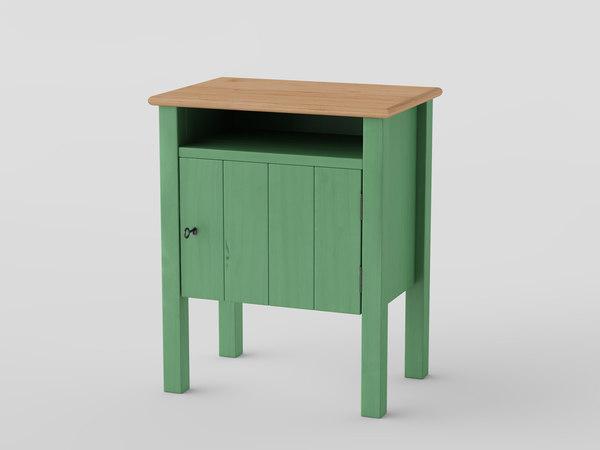 free ikea hurdal bedside table 3d model