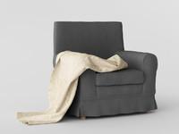 3d ikea jennylund armchair ursula model